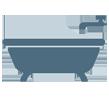 מקלחת ושירותים מעוצבים